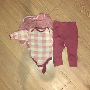 Two onsies with coordinating pant bundle